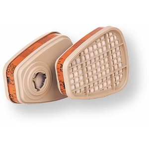 Organinių garų, neorganinių garų ir rūgščių dujų filtras A2, 3M