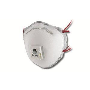 Tolmurespiraator klapiga FFP3, 3M