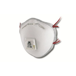 Dust respirator with valve, 3M