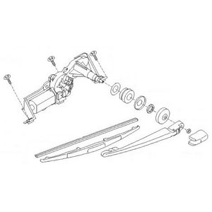 ST/STW Rear Wiper Kit, Kubota