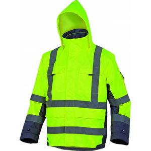 Hi.Vis. winter work jacket Tarmac  yellow/grey, XL, Delta Plus