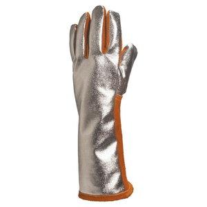 GLOVE LEATHER HIDE WELDER'S / ALUMINISED BACK 20 cm, size 10 10, Delta Plus