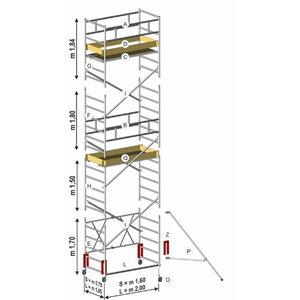 Mobile tower ROLLER PLUS L, module C 1,50m, Svelt