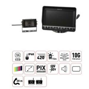 "Kaamerasüsteem koos monitoriga 7"", Total Source"