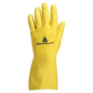Pirštinės, natūralus lateksas, geltonos, Delta Plus