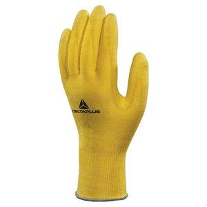 Pirštinės, geltonos 9 DELTANOCUT® megztos- PU-dengtas delnas 9, Delta Plus