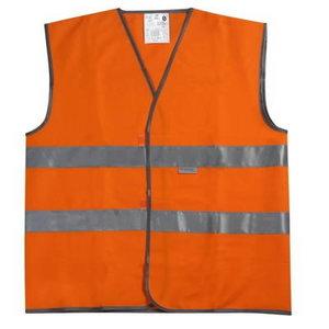 Satiksmes veste, oranža, izmērs 2XL
