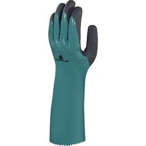 Kindad, sõrmik topelt nitriilikihiga kaetud, roheline 10/XL, Delta Plus