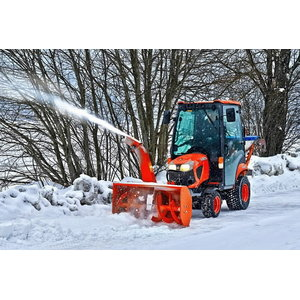 Snow blower, 1,12 m, front-mounted A-frame, Kubota