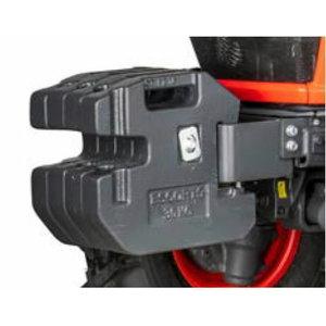 Front weight kit 4x30 kg with mounting frame fo EK1 series, Kubota