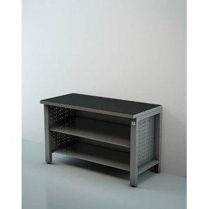 Töökoja laud1,5m lahtise riiuliga