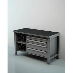 Töökoja laud 1,5m sahtlitega ja riiuliga, Keen Space