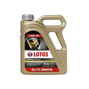 Mootoriõli LOTOS SYNTHETIC C2+C3 5W30 4+1L, Lotos Oil