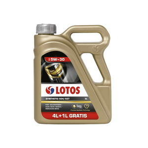 Mootoriõli LOTOS SYNTHETIC 504/507 5W30 4+1L, Lotos Oil