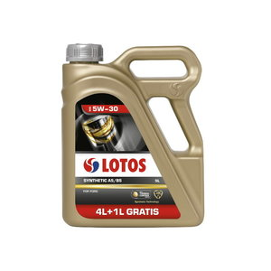 Motor oil LOTOS SYNTHETIC A5/B5 5W30 4+1L, , Lotos Oil