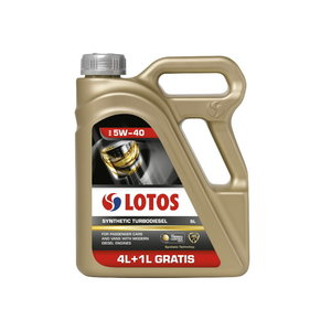 Motor oil LOTOS SYNTHETIC TURBODIESEL 5W40 4+1L, Lotos Oil