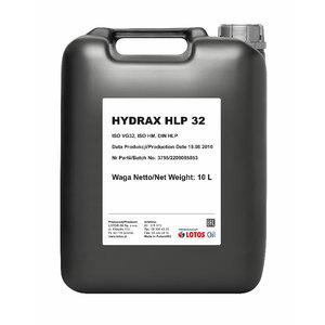Hidraulinė alyva HYDRAX HLP 32 10L, , Lotos Oil