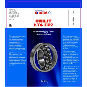 Plastinis tepalas UNILIT LT-4 EP-00, Lotos Oil