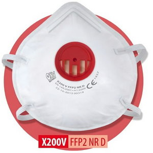 Respirators Oxyline NR D, valved FFP2, 3M