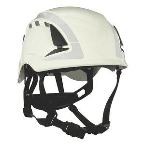 SecureFit Safety Helmet, vented, reflective, White, 3M