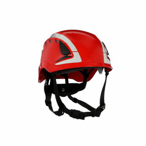 Safety Helmet SecureFi, tvented, reflective, red, 3M