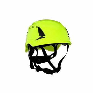 Safety Helmet SecureFit, vented, reflective, HVGreen X5014V-