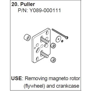 Tõmmits magneto eemaldamiseks  Y089-000110, Yamabiko