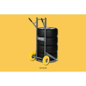 Industrial tire cart witg gear system