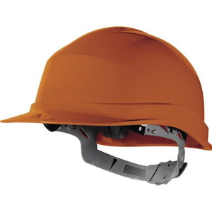 Safety helmet, manual adjustment, orange ZIRCON, Delta Plus
