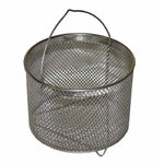 Round basket for small metal parts, stainless steel, Sme