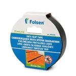 Libisemist takistav teip 25mmx5m, PVC, must, Folsen