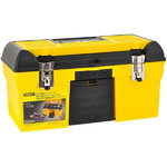 "Toolbox 19"" yellow with drill bit holder, Stanley"