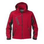 Softshell jakk kapuutsiga 1444 punane, M, Acode