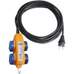 Prailginimo kabelis VDE, juodas, 4VDE RR 3x1,5, Brennenstuhl
