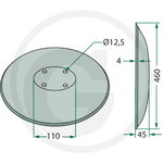 COULTER DISC 460mm x 4mm, Granit