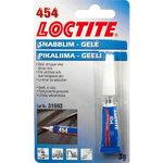 Momentiniai klijai (universalūs, gelis) LOCTITE 454 3g, Loctite