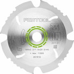 Diamond sawblade, 160x2,2x20 mm, -5°., Festool