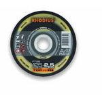 Pjovimo diskas nerūdijančiam plienui FT38 125x3.0, RHODIUS
