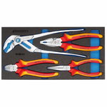 VDE Pliers set in 1/3 Check-Tool module, Gedore