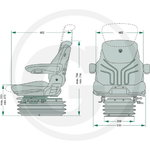 Seat GRAMMER comfort plus MSG 95A/731, Granit