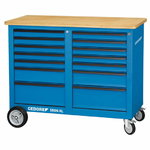 mobile workbench 1506 XL 2511 14 drawers 985x1250x550mm, Gedore