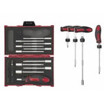 "T-Screwdriver set with bits and sockets 1/4"", 37pc"