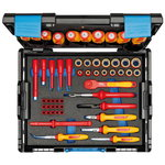 VDE Tool assortment HYBRID 53 pcs in L-BOXX 136, Gedore