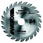 Saeketas TCT, z24, 85mm. WX423. Puidule, Worx