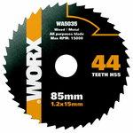 Saeketas HSS, z44, 85mm. WX423. Puidule / Metallile, Worx
