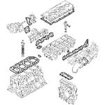 Tarpinių rinkinys, variklio viršutinis, 1-o remonto, JCB
