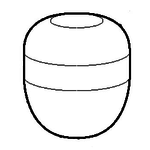 Akumuliatorius hidraulinės sistemos 0.5ltr, neužpildytas, JCB