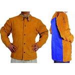 Keevitaja jakk nahast, seljalt tule kaitsega 76cm M, WELDAS