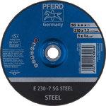 Šlifavimo diskas 230x7,2x22,23mm A24 R SG-E plienas, Pferd
