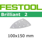 Sandpaper BRILLIANT 2 / Delta 100x150/7 / P180 / 10pcs, Festool